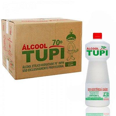 Álcool Etílico Hidratado 70° INPM TUPI - Caixa 12 Unidades