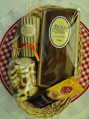 Cesta de Café Bolo Careca (5 Itens)