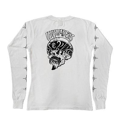 Camiseta Manga Longa Feminina INKVADERS branca