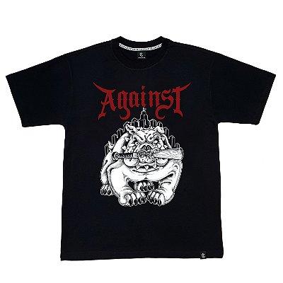 Camiseta AGAINST preta