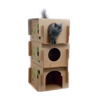 Casa triplex para gatos