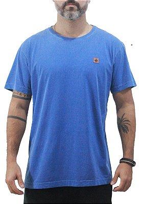 Camiseta Masculina Estonada Azul Iris