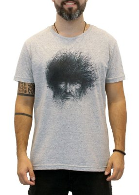 Camiseta Masculina Cinza Old Face