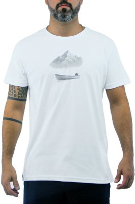 Camiseta Masculina Branco Boat
