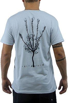 Camiseta Masculina Cinza Hand Tree