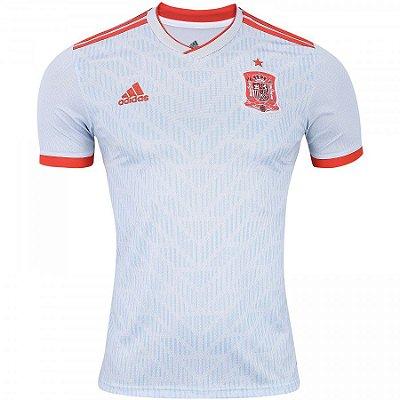 Camisa Seleção Espanha Home 2018 s n° Torcedor Adidas Masculina - Branco ee5dc69727e93