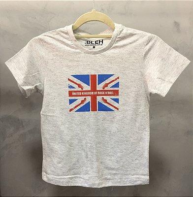 Camiseta United Kingdom Cinza Claro- Infantil