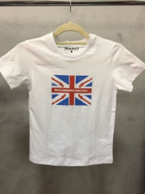 Camiseta United Kingdom Cinza Branco- Infantil
