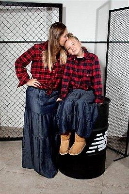 Saia Longa Jeans Adulto