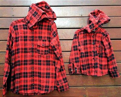 Camisa Flanela Infantil com capuz