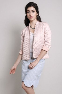 Casaco Metalassê rosa