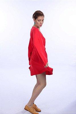 Vestido Bata Cereja
