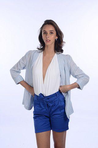 Short Alfaiataria Azul