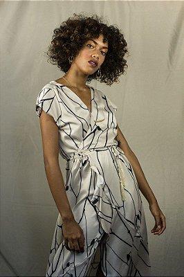 Vestido transpassado tarsila