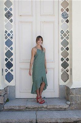 Vestido Sereia Verde Pérola