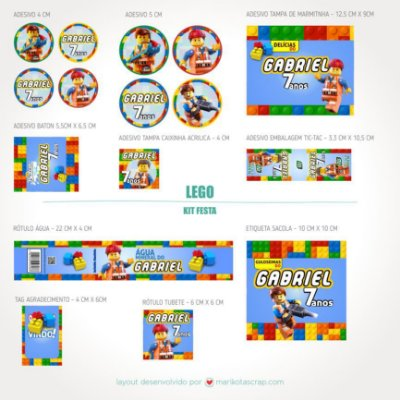 Kit festa digital Lego personalizado