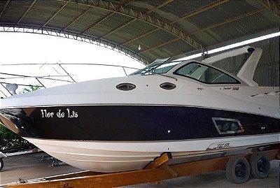 Lancha Focker 310 c/ Mercruiser 8.2 DTS (380hp) Gasolina  + Carreta p/ marina
