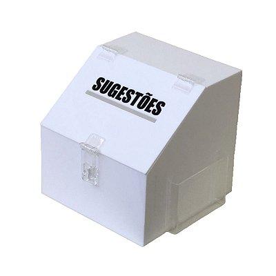 Caixa de sugestões branca