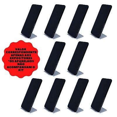 Expositor de celular transparente - 10 peças