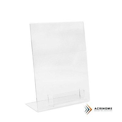 Expositor de folder A5 com porta cartões