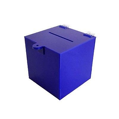 Urna pequena de acrílico azul