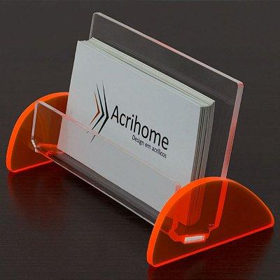 Porta cartão de visita laranja - 3 peças