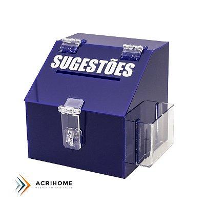 Mini caixa de sugestões azul