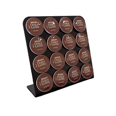 Porta capsulas de café dolce gusto preto