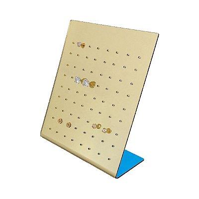 Expositor de brincos 72 furos  - Dourado