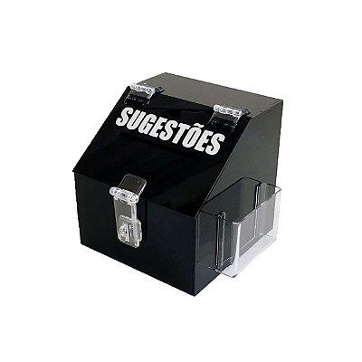 Mini caixa de sugestões - Preta