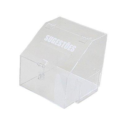 Caixa de sugestões transparente