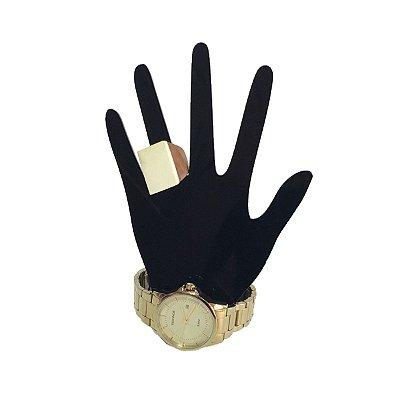 Expositor de anel tipo mão - Preto
