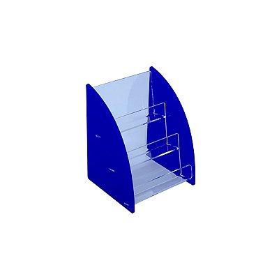 Porta cartão de visita azul 3 andares