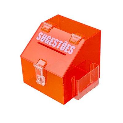 Mini caixa de sugestões laranja