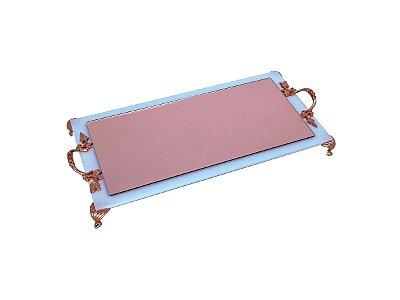 Bandeja para lavabo - Rosê e Branca