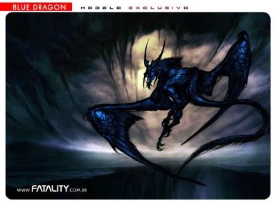 Mousepad Fatality Blue Dragon Médio com case