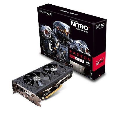 PLACA DE VIDEO SAPPHIRE RADEON RX 470 4GB DDR5 NITRO OC 256 BITS