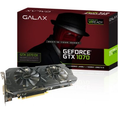 PLACA DE VIDEO GALAX GEFORCE GTX 1070 EX 8GB DDR5 256 BITS