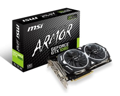 PLACA DE VIDEO MSI GEFORCE GTX 1080 ARMOR OC 8GB DDR5X 256 BITS