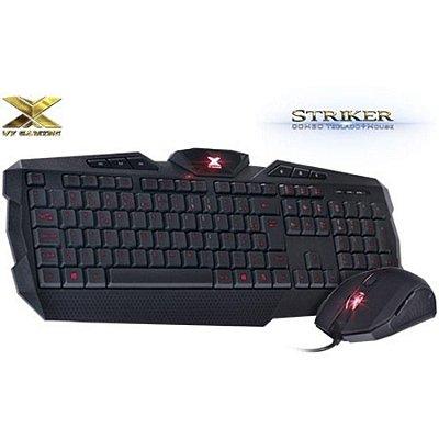 Kit Teclado E Mouse Vinik Vx Gaming Striker Teclado Padrão Abnt2 E Mouse 1600 Dpi