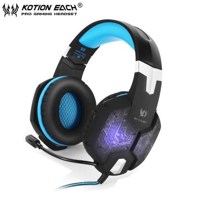 Fone De Ouvido Profissional Gamer Kotion G1000 + Usb Led Pro