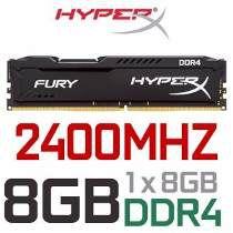 Memória 8gb Hyperx Fury DDR4 2400Mhz