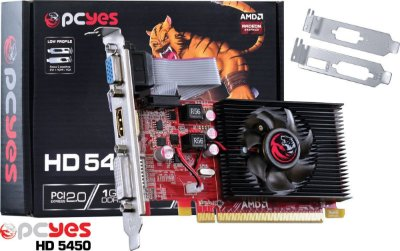 PLACA DE VIDEO AMD RADEON HD5450 1GB LOW PROFILE  Pcyes