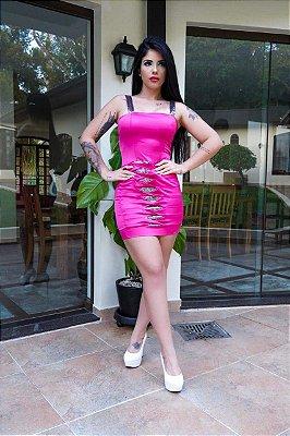 Vestido Pink Paetês M