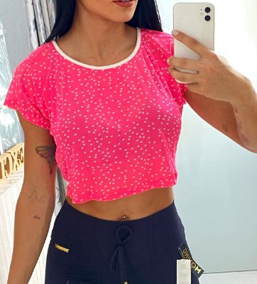 Cropped Manguinha Neon