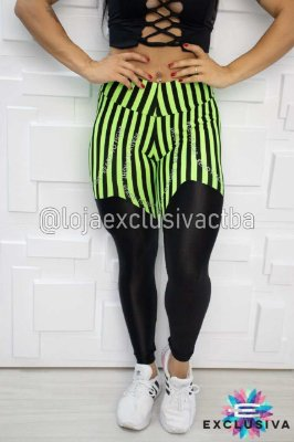 Legging Listras Black Green