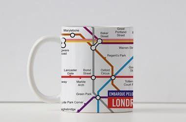 Caneca Coleção Embarque pelo Mundo - Metrô Londres
