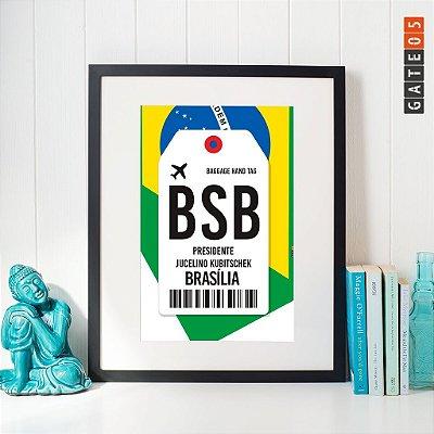 Poster Aeroporto BSB - Brasília - Distrito Federal
