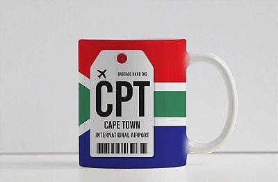 Caneca Aeroporto CPT - Cape Town /Cidade do Cabo - África do Sul