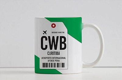 Caneca Aeroporto Afonso Pena CWB - Curitiba - Brasil